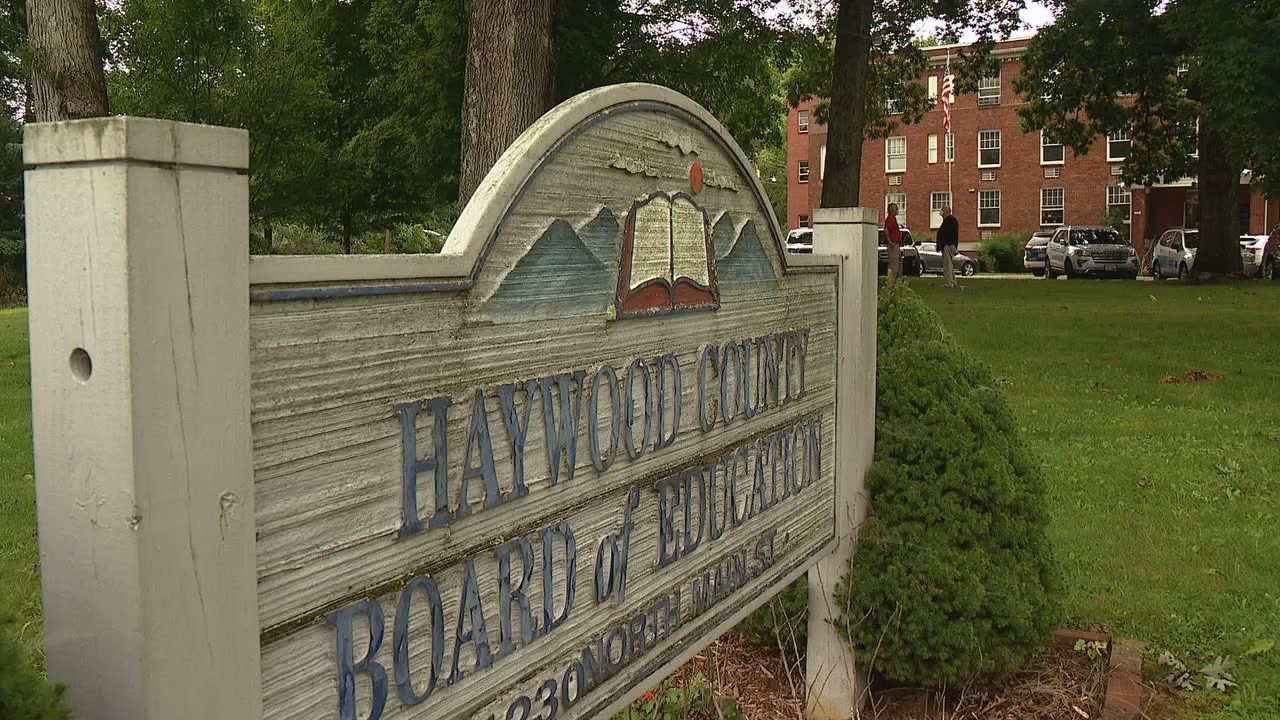 The personal information of some Haywood County families may have been compromised in a cyber attack on the school district last year. (Photo credit: WLOS staff)