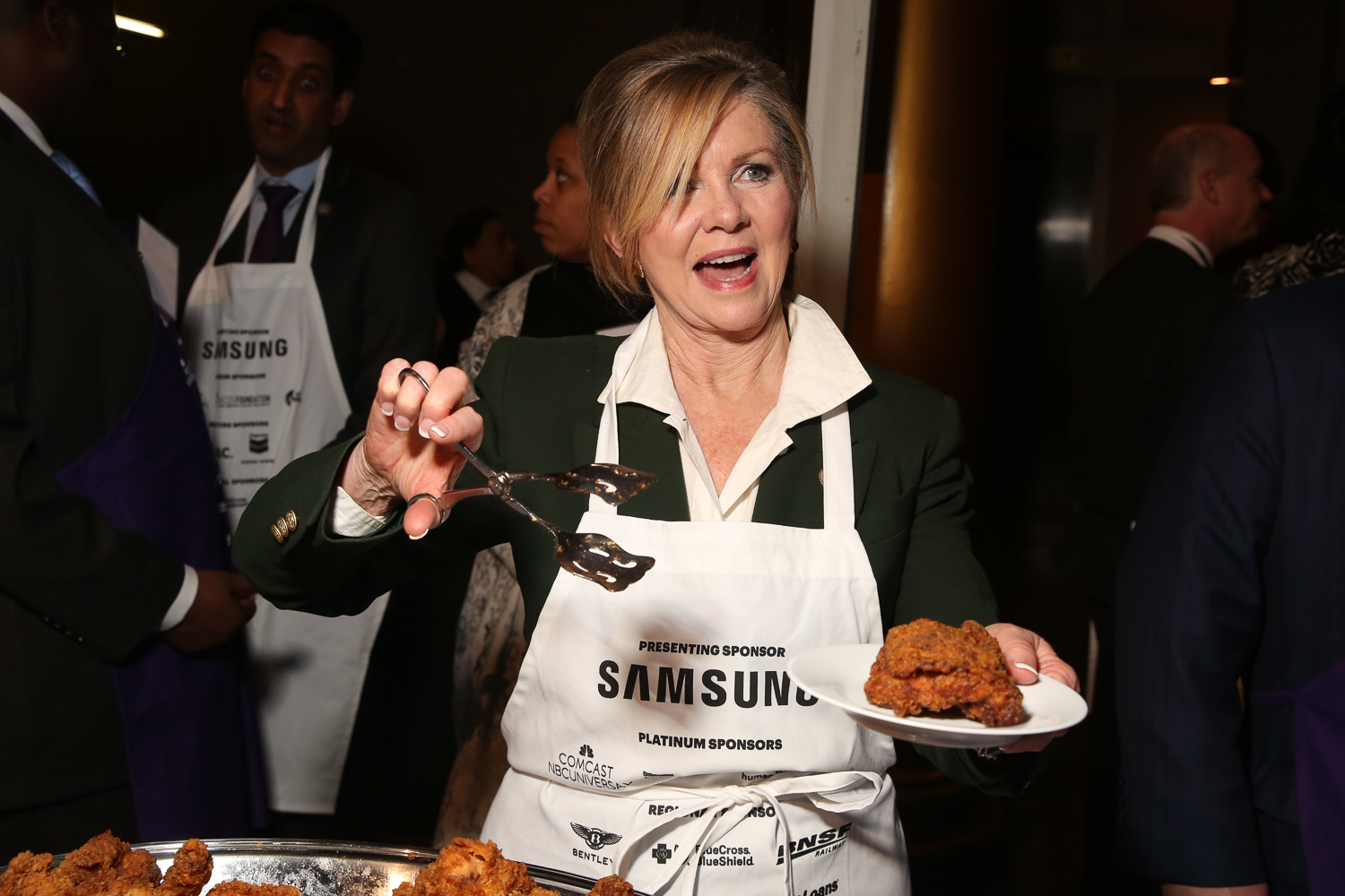 Rep. Marsha Blackburn, whose hot chicken won the people's choice award. (Amanda Andrade-Rhoades/DC Refined)
