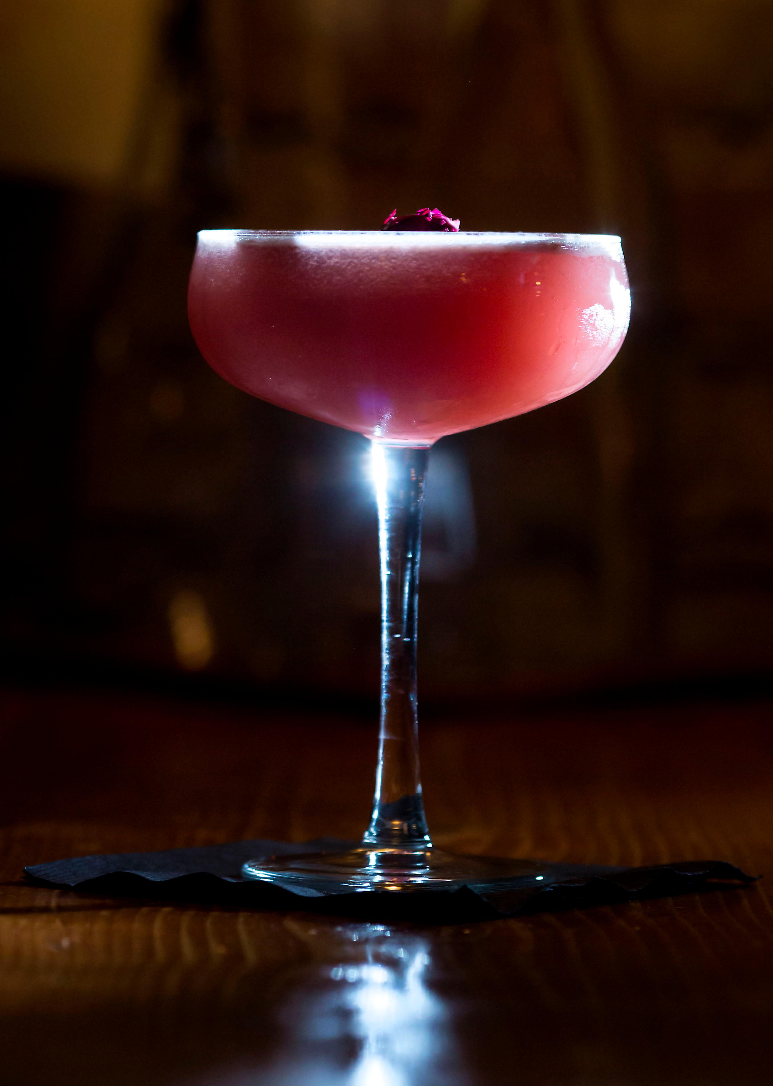 Birds &amp;amp; the Bees - Botanical Gin, Washington sourced rose geranium liqueur, house shrub and house grenadine, coconut milk.{&amp;nbsp;}<p></p><p>The Little Tin in Ballard opened in December 2016 and is becoming a quiet the little hot-spot. It's a quieter bar, in comparison to the bumping bar scene in Ballard. Neither a bar nor a restaurant, they instead call themselves a 'goods &amp;amp; apothecary cabinet'! The Little Tin is a place for people to gather around and enjoy delicious snacks and thoughtful, well-made cocktails. Can't be mad at that! (Image: Sy Bean / Seattle Refined)<br></p>