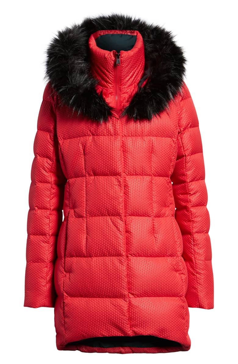 The North Face Hey Mama Water Repellent 550 Fill Power Down Parka with Faux{ } Fur Trim, $299.{ }Give the special lady in your life a gift to help her shine. Nordstroms helped us shop for a standout gift she'll love! (Image courtesy of Nordstrom).