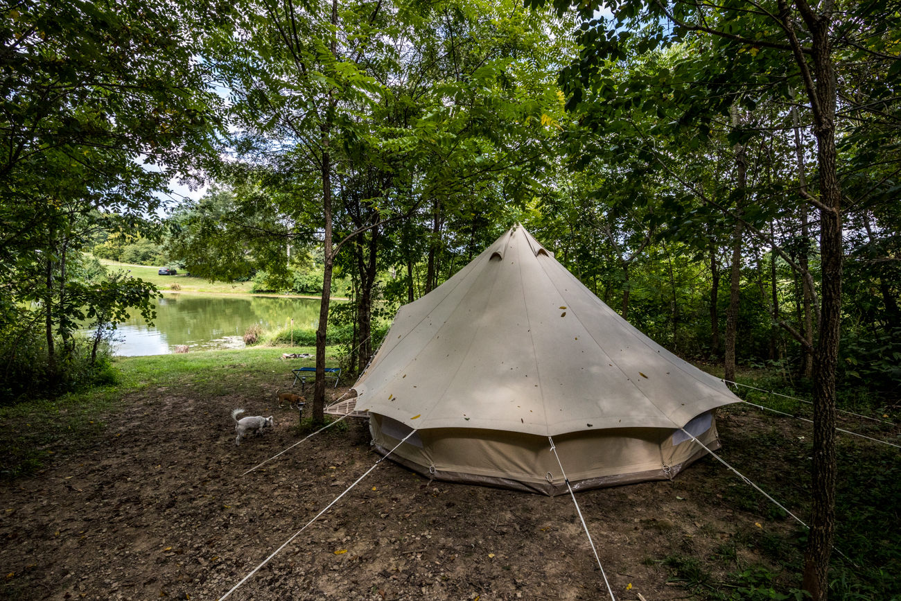 "The Pop-Up BNB is a glamping experience that features traveling tents hosting guests at various sites. The heavy-duty canvas tents are mobile and set up for guests in advance, and are furnished to make each stay as cozy as possible. They have reserved a few sites at Hidden Lake Farm in Cynthiana, KY (pictured in this gallery), which will be available to rent through September 23, 2020. WEBSITE:{&nbsp;}<a  href=""https://www.thepop-upbnb.com/"" target=""_blank"" title=""https://www.thepop-upbnb.com/"">thepop-upbnb.com</a>{&nbsp;}/ ADDRESS: 170 Stonewall Lane, Cynthiana, Kentucky (41031) / Image: Catherine Viox // Published: 9.15.20"