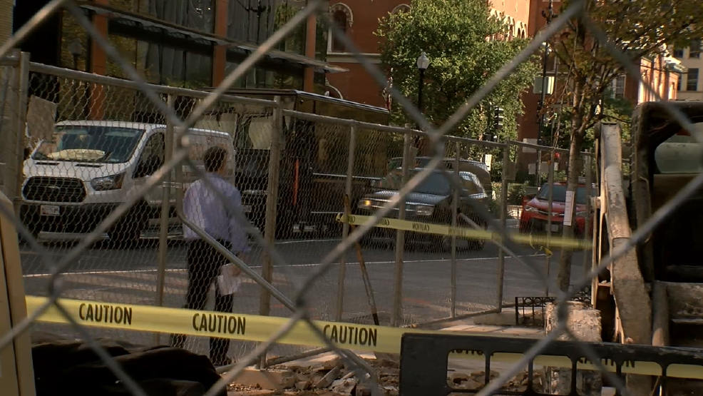 M Street Nw Construction Leaves Little Room For