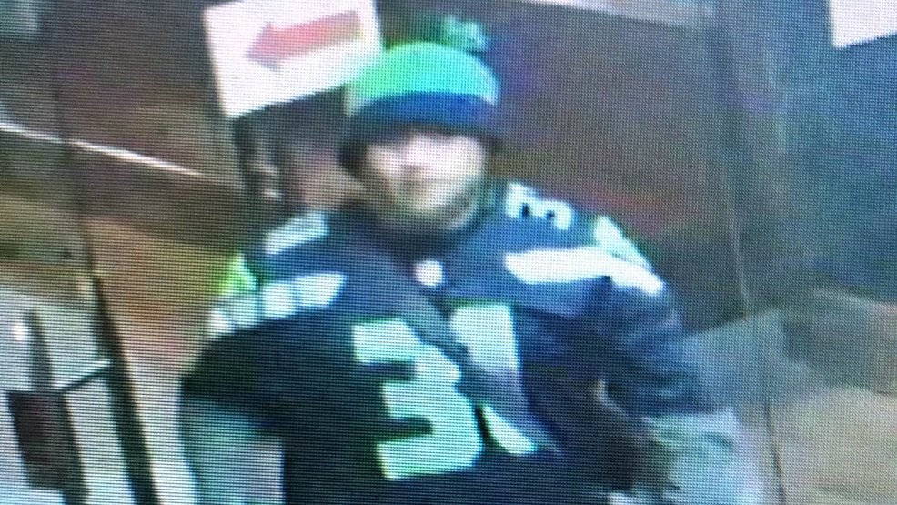 Worst fan ever? Man decked in Seahawks garb sought in armed robbery