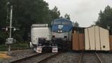 Amtrak train with 143 passengers aboard collides with tractor trailer in Va.
