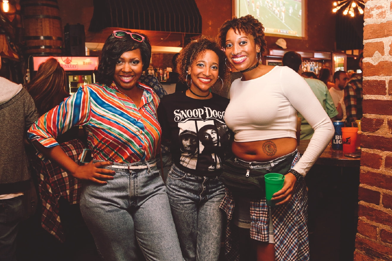 Kristen Swilley, Briana Harper and Cherelle Harper at the Drinkery / Image: Catherine Viox