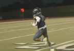 Quian Williams went 76 yards for a touchdown after catching a pass from quarterback Casey Thompson in the Norman North and Southmoore game on Friday, Oct. 7, 2016 in week 6 of highschool football. (KOKH) .PNG