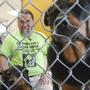 Man 'camps out' in dog kennel to raise money for shelter