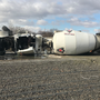 Truck blows a tire, spills cement onto I-82 near Yakima Avenue