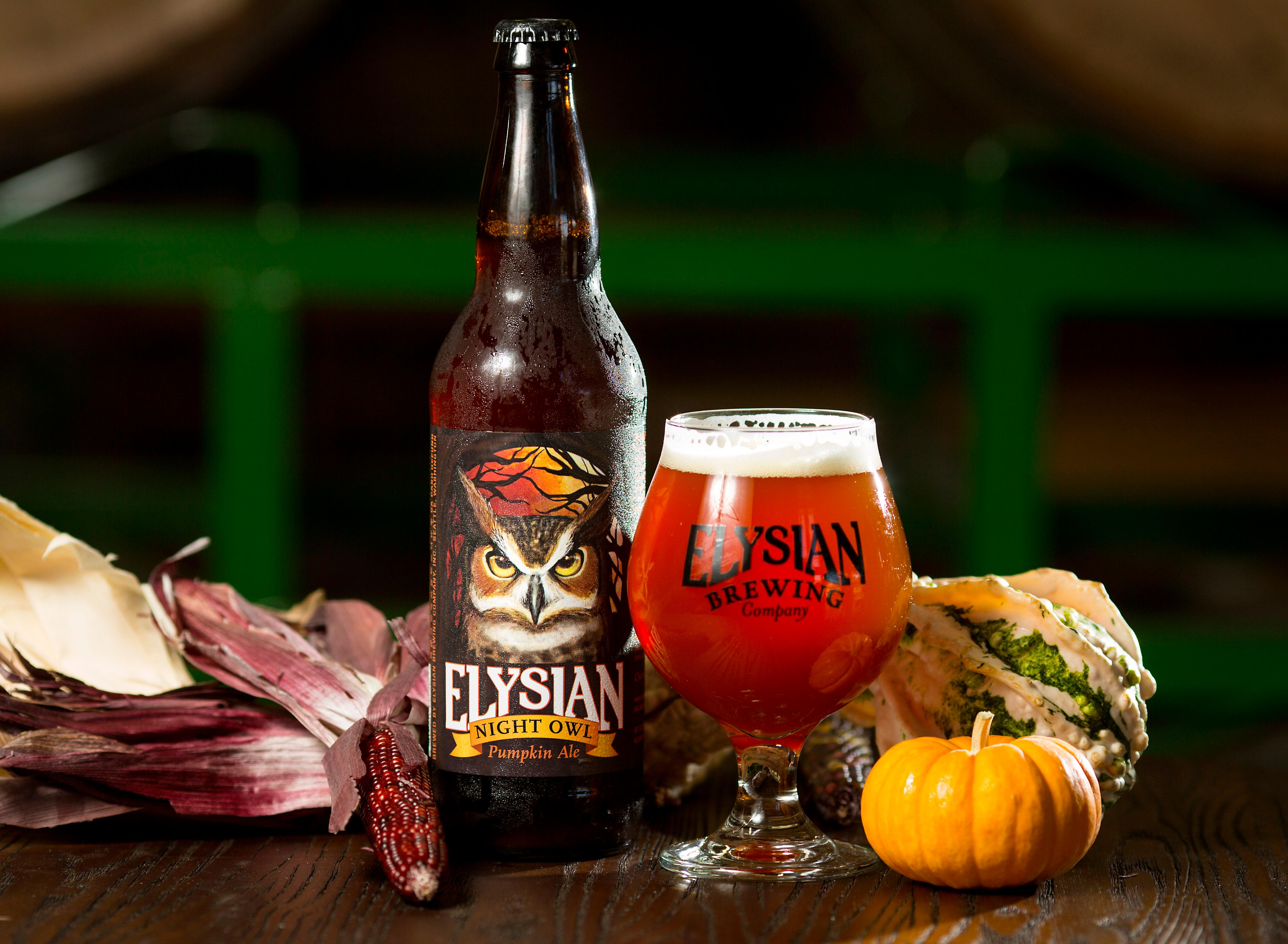 "Elysian Brewing's Pumpkin Night Owl Pumpkin Ale is just another one of the many beers that will be on tap at the Great Pumpkin Beer Festival. Elysian's tasting notes on the ale say: ""A very drinkable pumpkin ale—brewed with seven and a half pounds of pumpkin per barrel and spiced in conditioning with ginger, cinnamon, nutmeg, cloves and allspice."" (Sy Bean / Seattle Refined)"