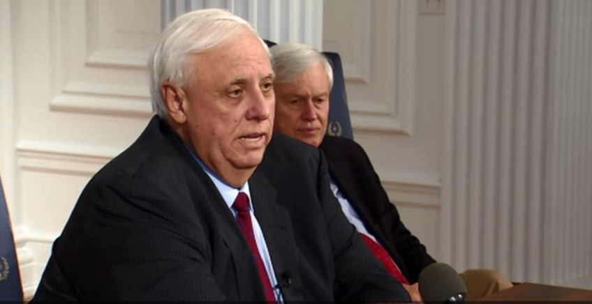 West Virginia Gov. Jim Justice announces an agreement that he said will end the education walkout. (WCHS/WVAH)<p></p>