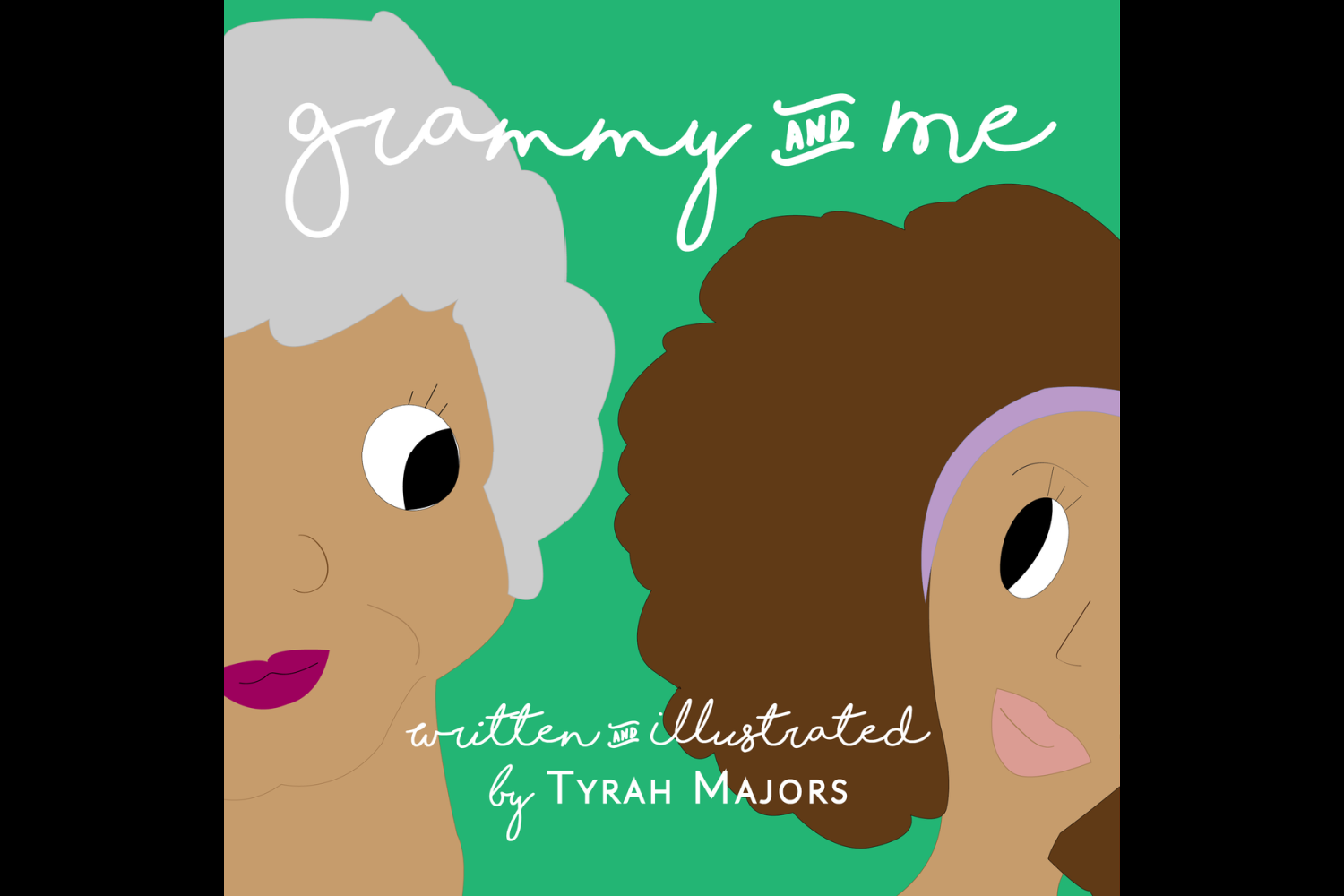 Tyrah Majors wrote and illustrated { }'Grammy and Me' a book that celebrates family. (Image: Tyrah Majors)