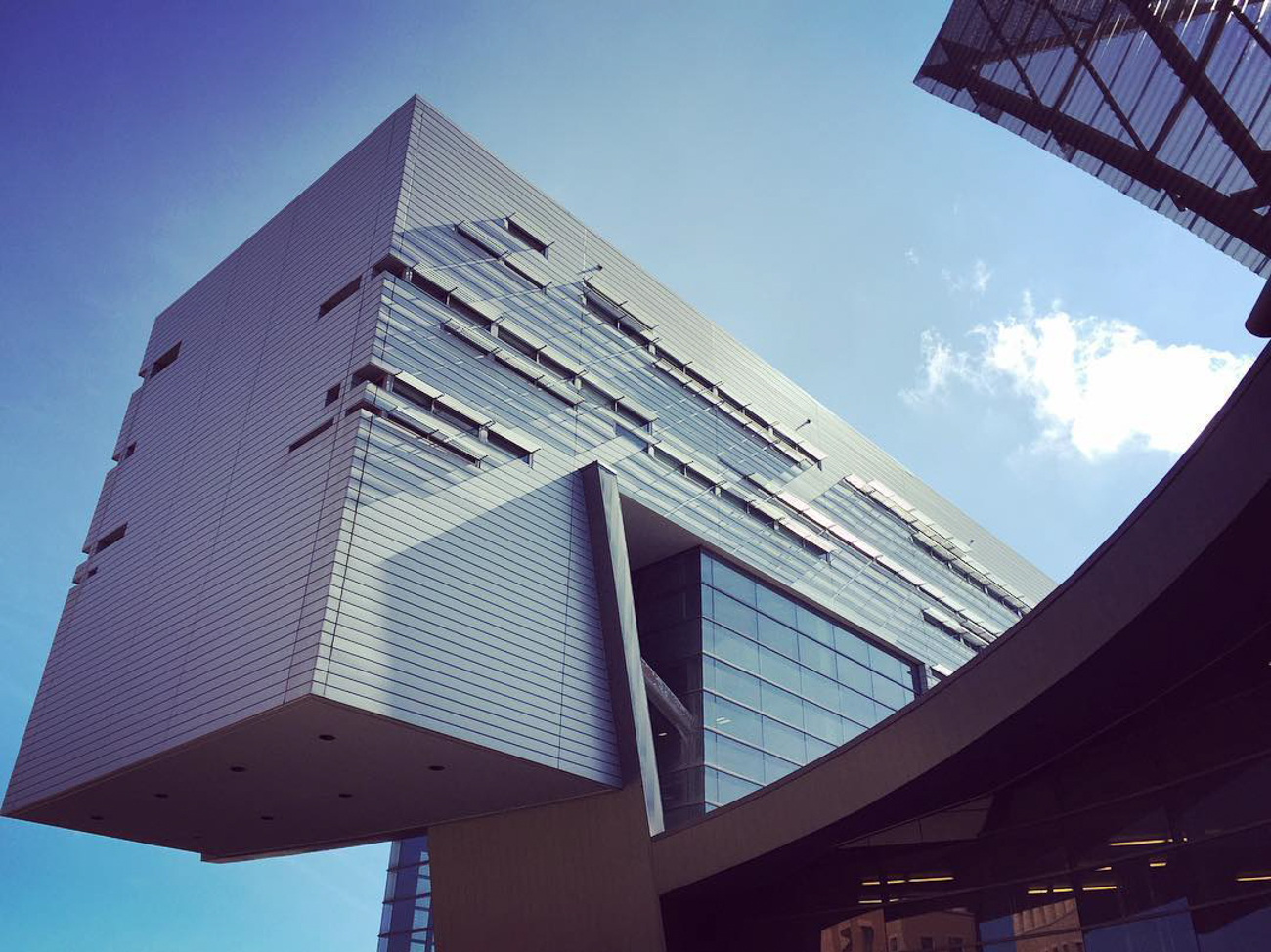 "One of Jim's favorite buildings in Cincinnati: UC Rec Center. ""The way it spatially connects and weaves its interior and exterior design into the UC campus is extraordinary."" / Image: IG user @luissabatermusa // Published: 12.26.16"