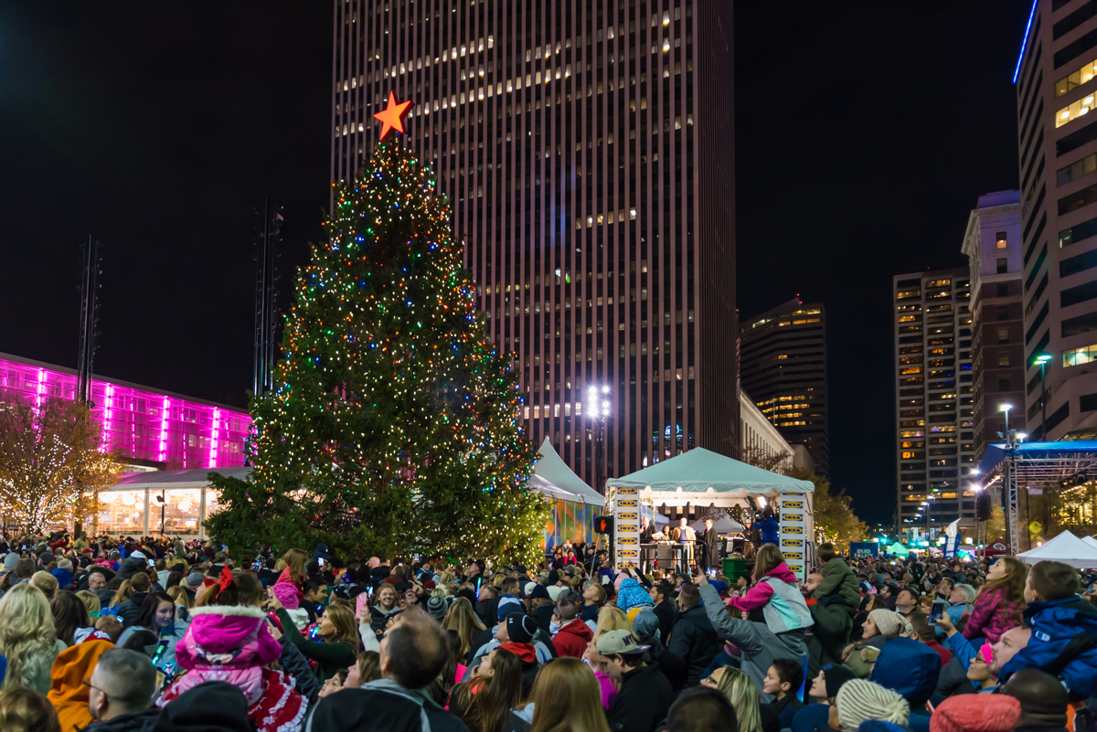 Macy's Light Up the Square event was held on Friday, November 24. The ice rink and Cincideutsch Christkindlmarkt opened for the season, and the lighting of the Christmas tree was held. Fireworks followed the tree lighting ceremony. / Image: Sherry Lachelle Photography // Published: 12.3.17