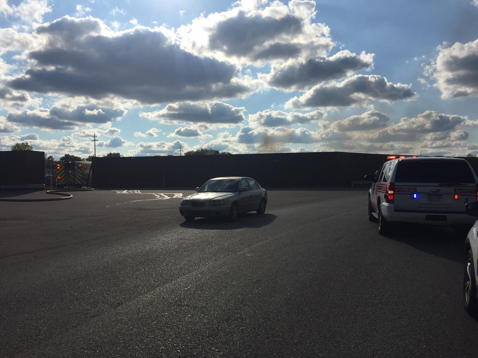 Crews are responding to a fire in Kalamazoo at a used car parts yard. (Photo: Anna Giles/WWMT)