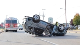Rollover on Westnedge in Portage