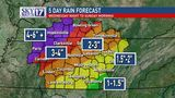 Flood watch issued for some of middle Tennessee as heavy rain moves in