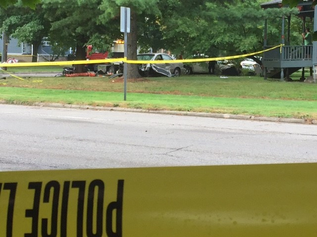 One person is killed in a two-car crash in downtown Kalamazoo Thursday morning.