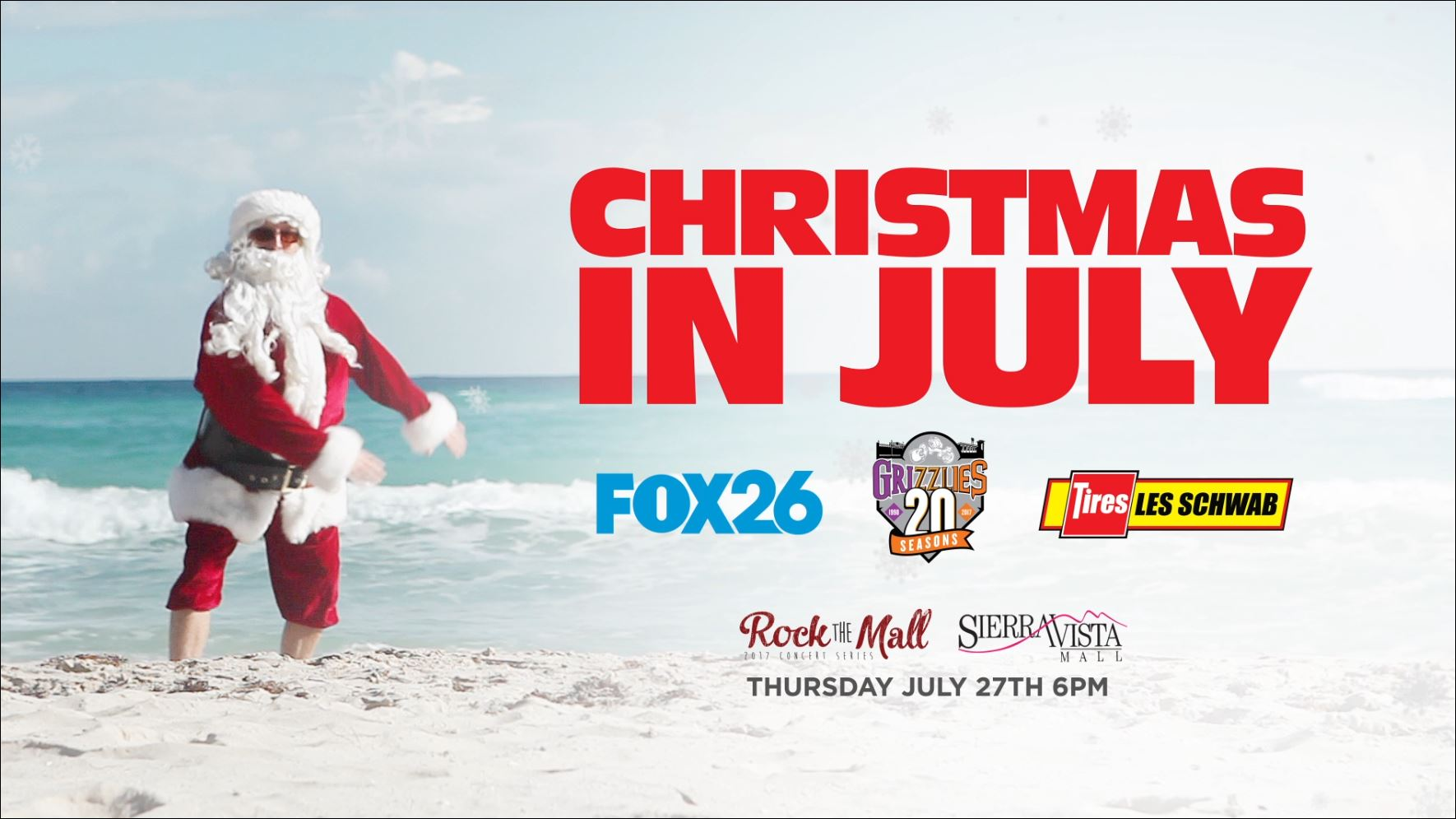 Christmas in July will be at Rock the Mall on Thursday, July 27
