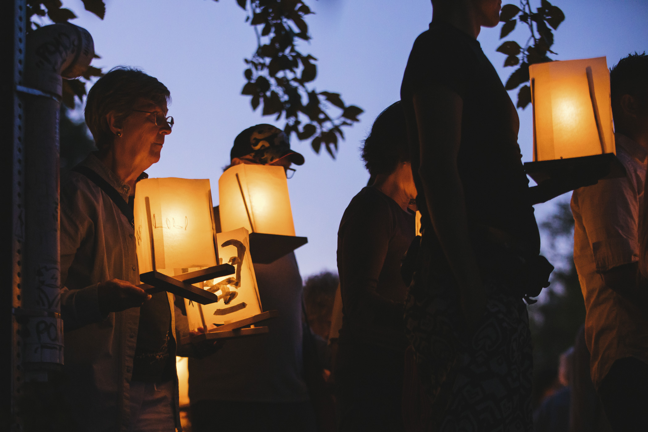 Over 1,000 candle-lit lanterns carrying messages of peace and hope floated across Green Lake during From Hiroshima To Hope, a commemorative ceremony that marks the 72nd anniversary of the atomic bombings of Hiroshima and Nagasaki. (Sunita Martini / Seattle Refined)