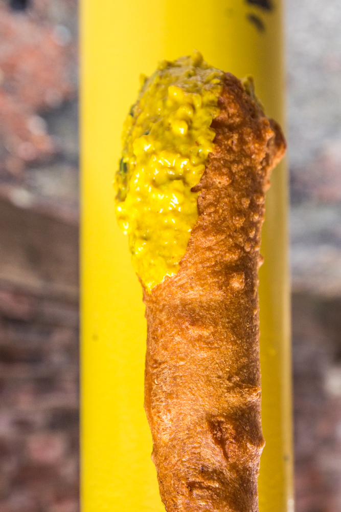 The giant corndog from The Walk Up / Image: Catherine Viox{ }// Published: 11.12.19