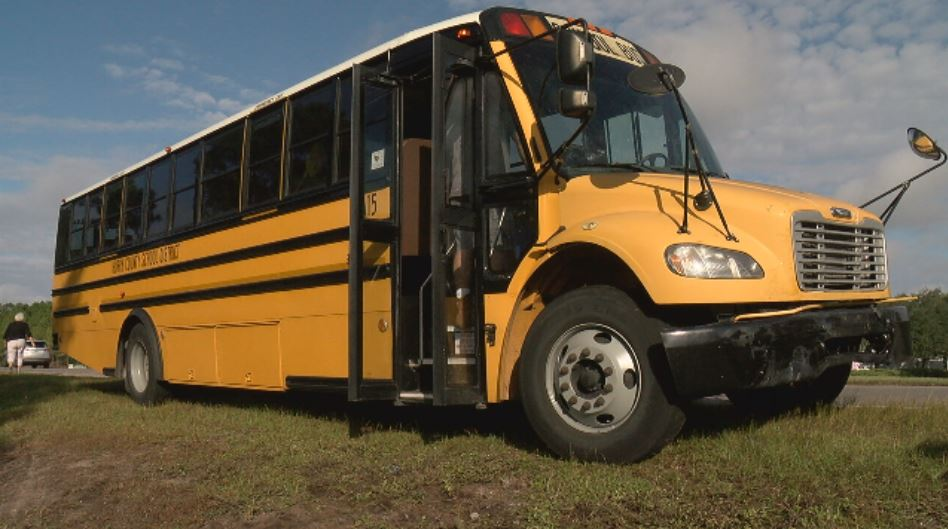 An Horry County School bus was involved in a wreck on Carolina Forest Boulevard Wednesday morning. (WPDE)