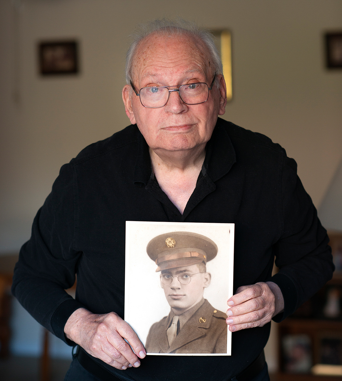 RICHARD SMITH / He registered on his 18th birthday and was drafted in 1943, going on to be an infantry rifleman who thankfully avoided conflict during the war. / Read more of his story at facebook.com/theygaveitall. / Image: Patrick McCue // Published: 1.29.17