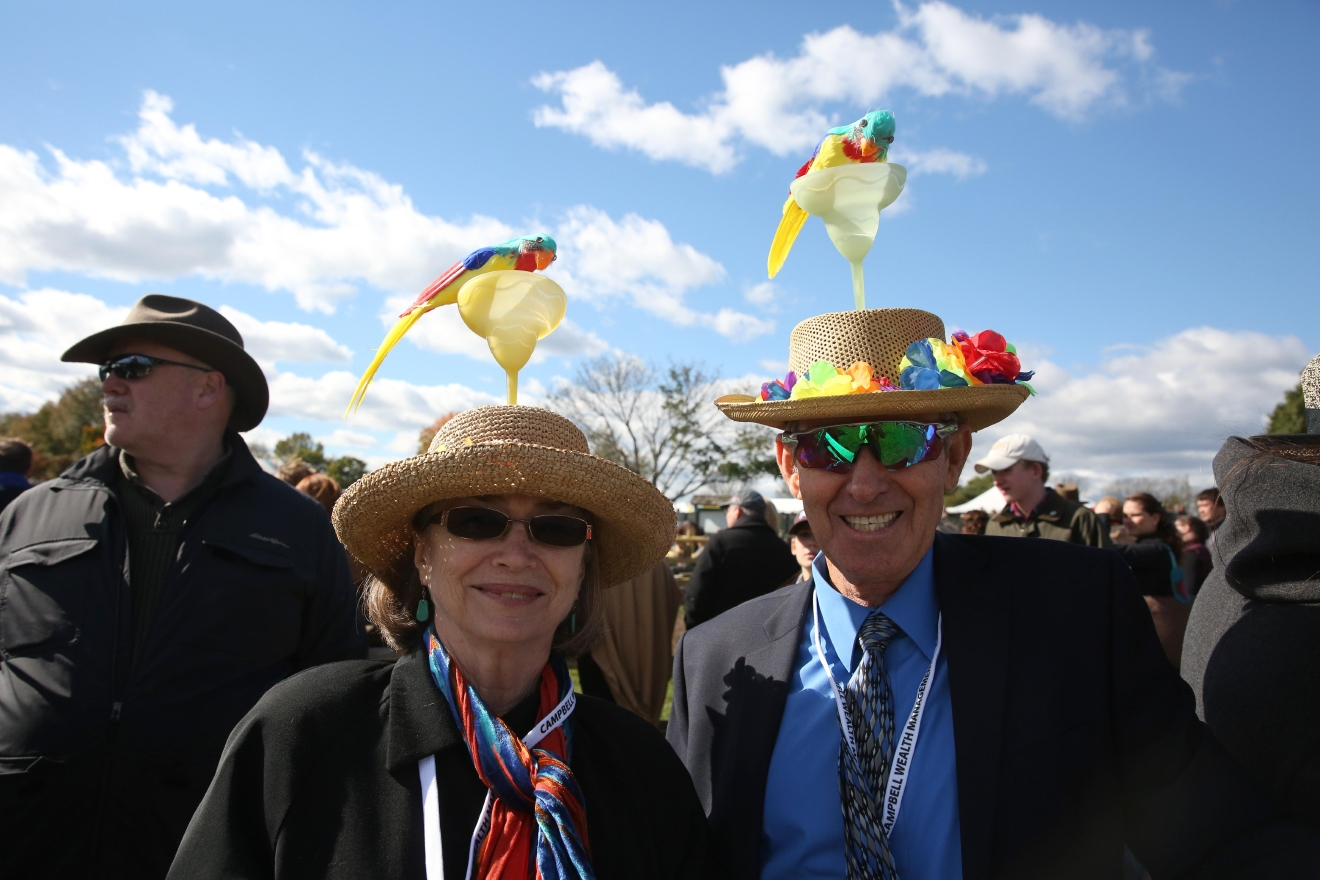 Ann and Paul Walsh won for the funniest hats. (Amanda Andrade-Rhoades/DC Refined)