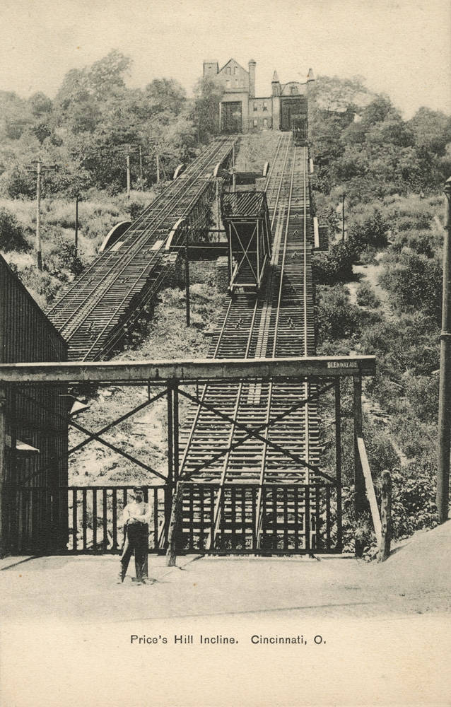 The Price Hill Incline featured two 800-foot-long tracks; one for passengers and one for freight. / Image courtesy of the Public Library of Cincinnati and Hamilton County // Published: 1.2.19