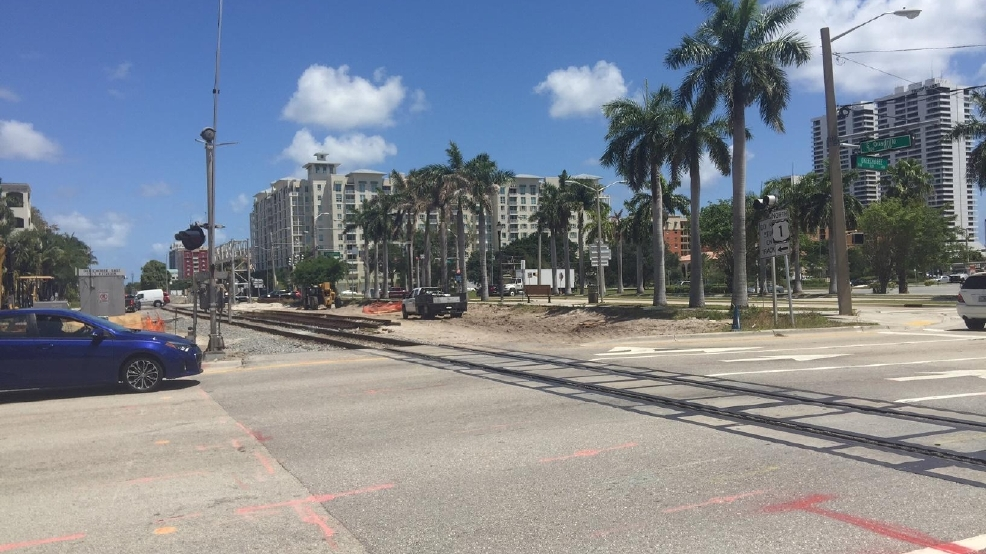 All aboard florida tracks to close busy west palm beach for Port motors west palm beach