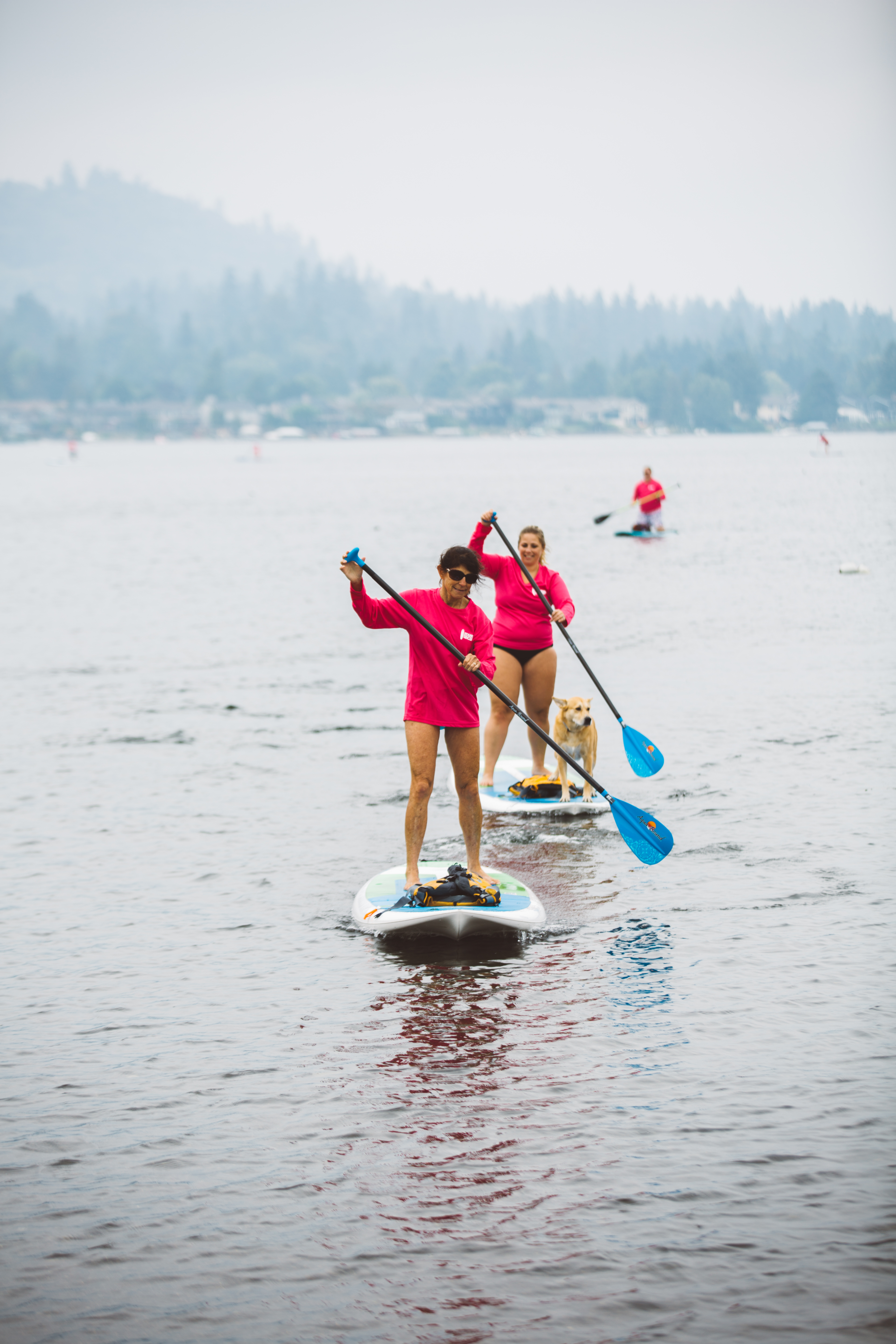 It was an amazing day on Lake Sammamish of family, fun, food, friend, music and races! The second annual Stand Up for the Cure, brought expert AND first-time paddleboarders to the lake to raise money for{ }early breast cancer detection, treatment and education. Proceeds stay right here and benefit Susan G. Komen Puget Sound. A big thanks to Trapper Sushi, Essential Baking Company, Ivar's, Top Pot Donuts, Georgetown Brewing and Talking Rain for being a part of this year's event! (Image: Ryan McBoyle / Seattle Refined)