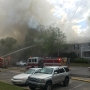 Fire at Timber Ridge Apartments in Mobile