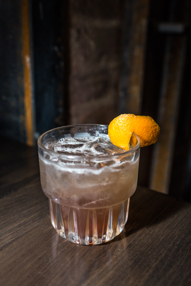 Tequila Olde Fashioned (draft): Weller bourbon barrel aged tequila, cherry, orange, mole bitters, and soda / Image: Catherine Viox{ }// Published: 4.7.19