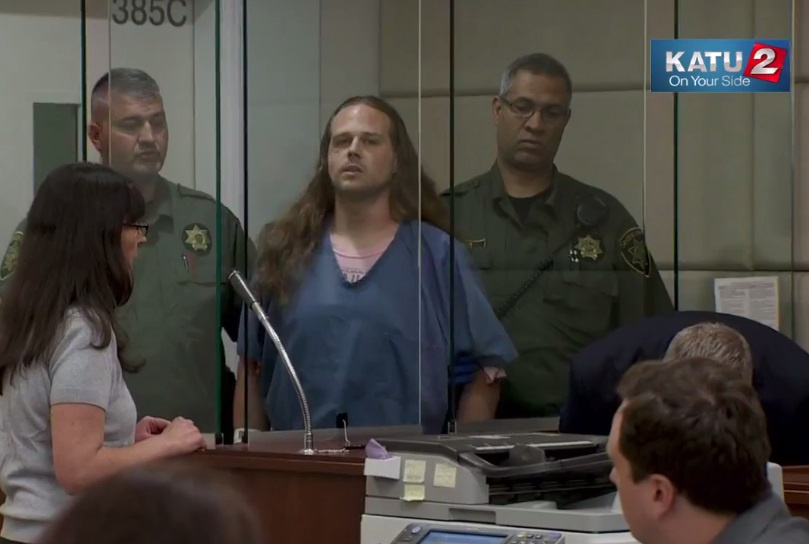 Jeremy Christian arraigned on murder charges. (KATU)
