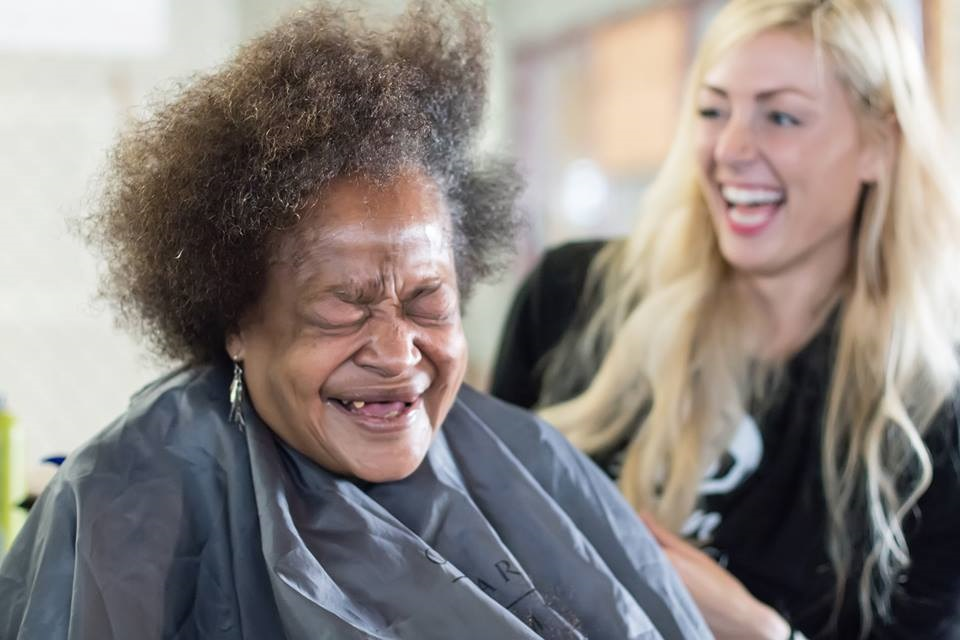 The Beyond Project has donated literally thousands of haircuts. Not only basic self care and necessary beauty products have been given, but self confidence and empowerment has equally transformed lives.(Image credit: Brad Cole Photography).