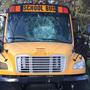 Merrill school bus loses control, leaves roadway after steering fails
