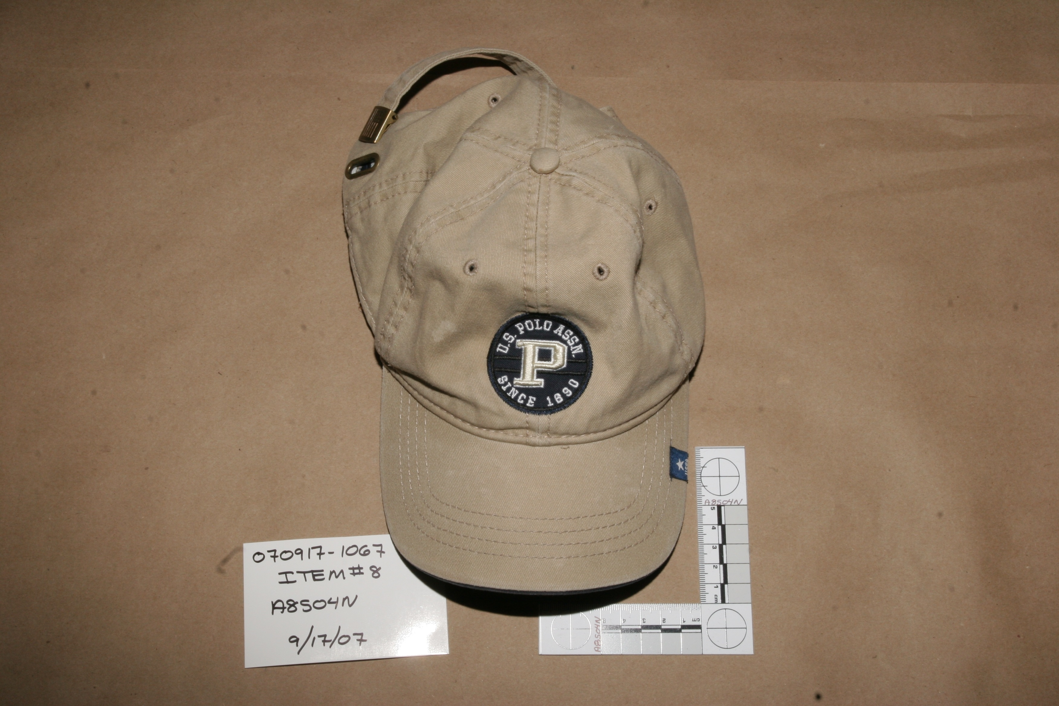 Evidence from O.J. Simpson's 2007 armed robbery and kidnapping case in Las Vegas. (Photo courtesy Andy Caldwell).<p></p>