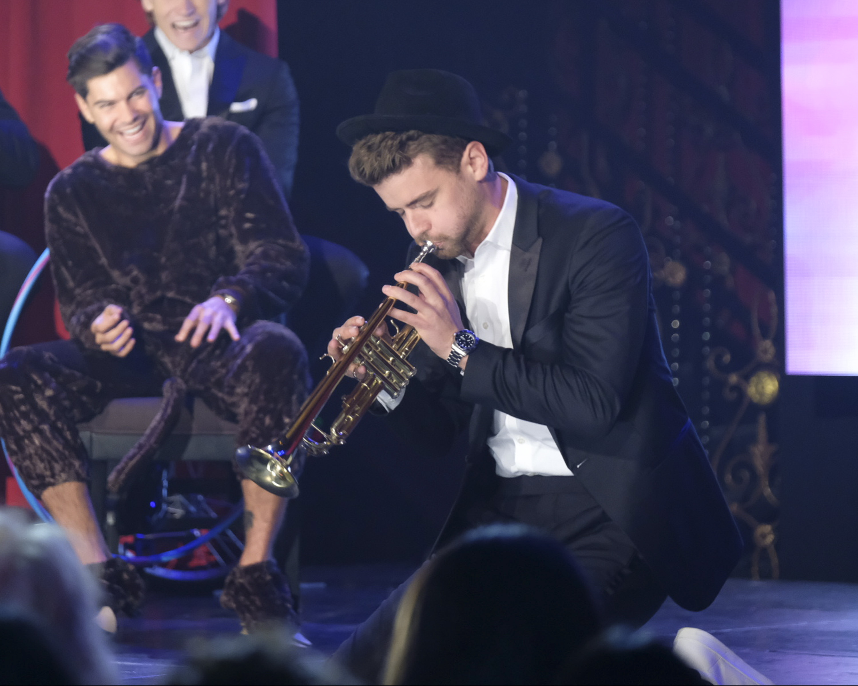 For his talent, it looks like Local Luke will be serenading us with some sweet, sweet jazz. (Image: John Fleenor/ ABC)