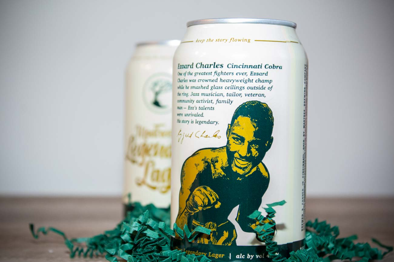 MadTree Brewing Company is rolling out a new, story-focused beer brand called MadTree Legendary Lager. The beers will spotlight local, larger-than-life figures whose stories can be shared over a refreshing drink. The first story in the series celebrates Cincinnati's West End icon and heavyweight champ, Ezzard Charles. ADDRESS: 3301 Madison Road (45209) / Image: Katie Robinson, Cincinnati Refined // Published: 2.27.21