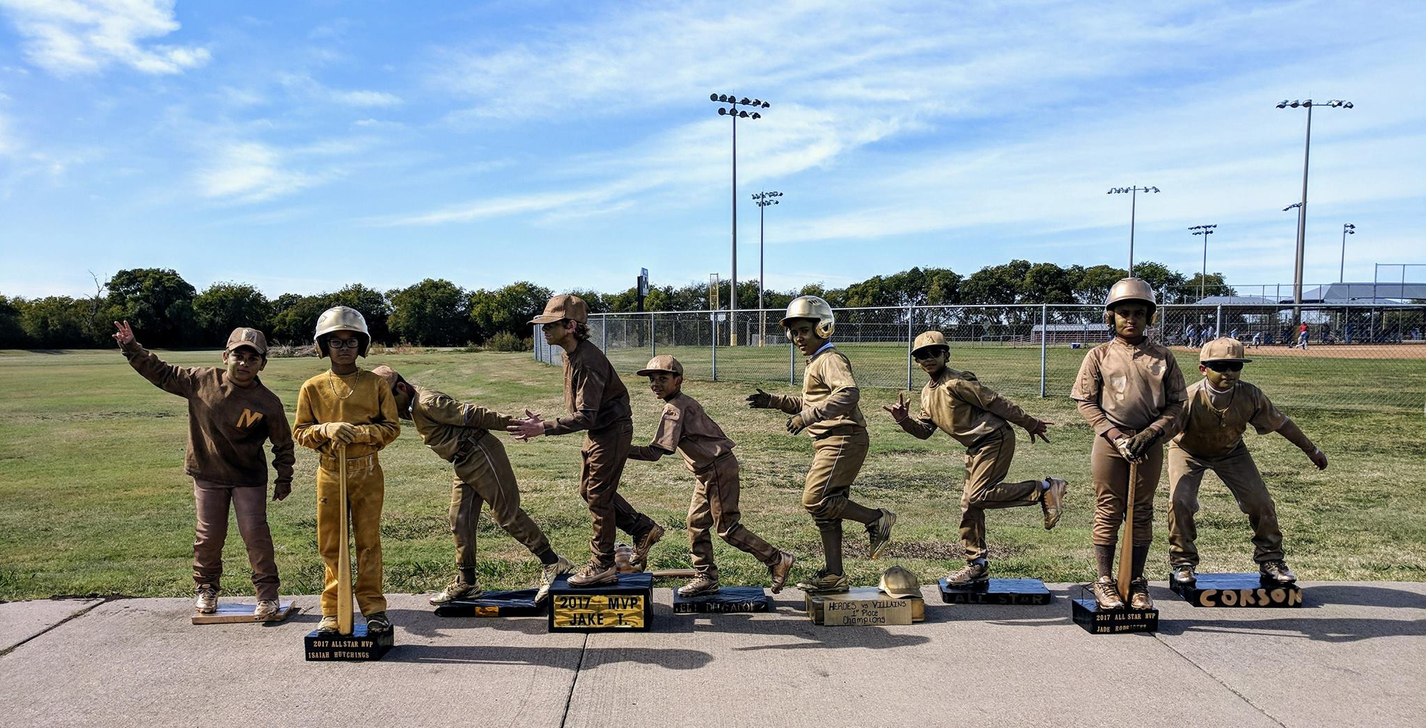 West Texas Mayhem - The team won 1st placeÂ?for best costumeÂ?at their baseball tournament