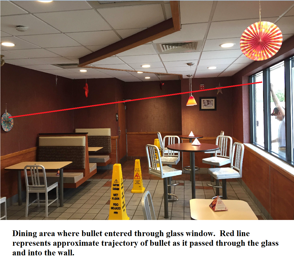 Stray bullet strikes mcdonalds restaurant in richmond wjar police diagram shows trajectory of stray bullet through mcdonalds dining room richmond police dept sxxofo