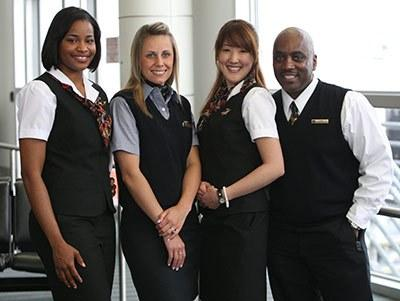 Alaska Airlines uniforms from the 2000s. Photo courtesy Alaska Airlines