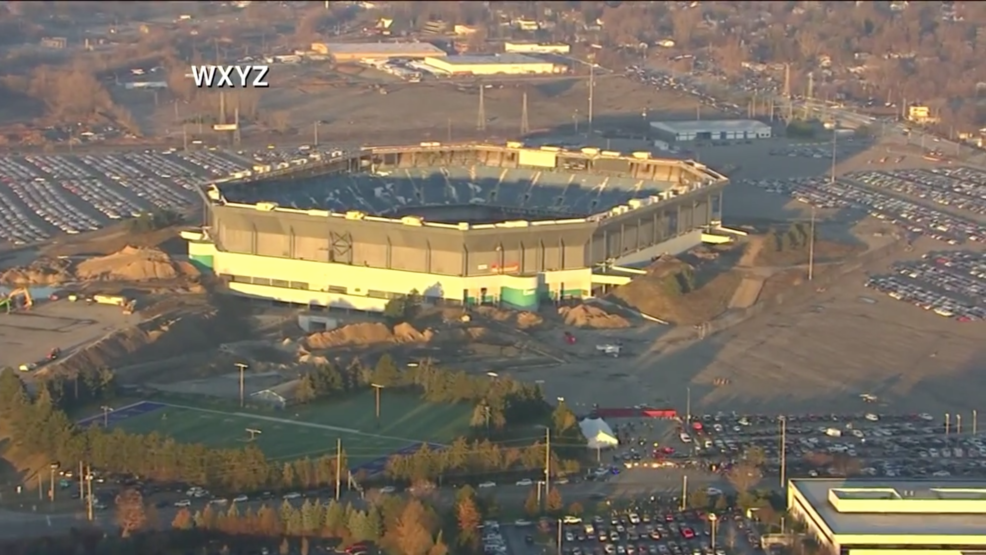 Live Watch The Pontiac Silverdome Implosion In Detroit Ksnv