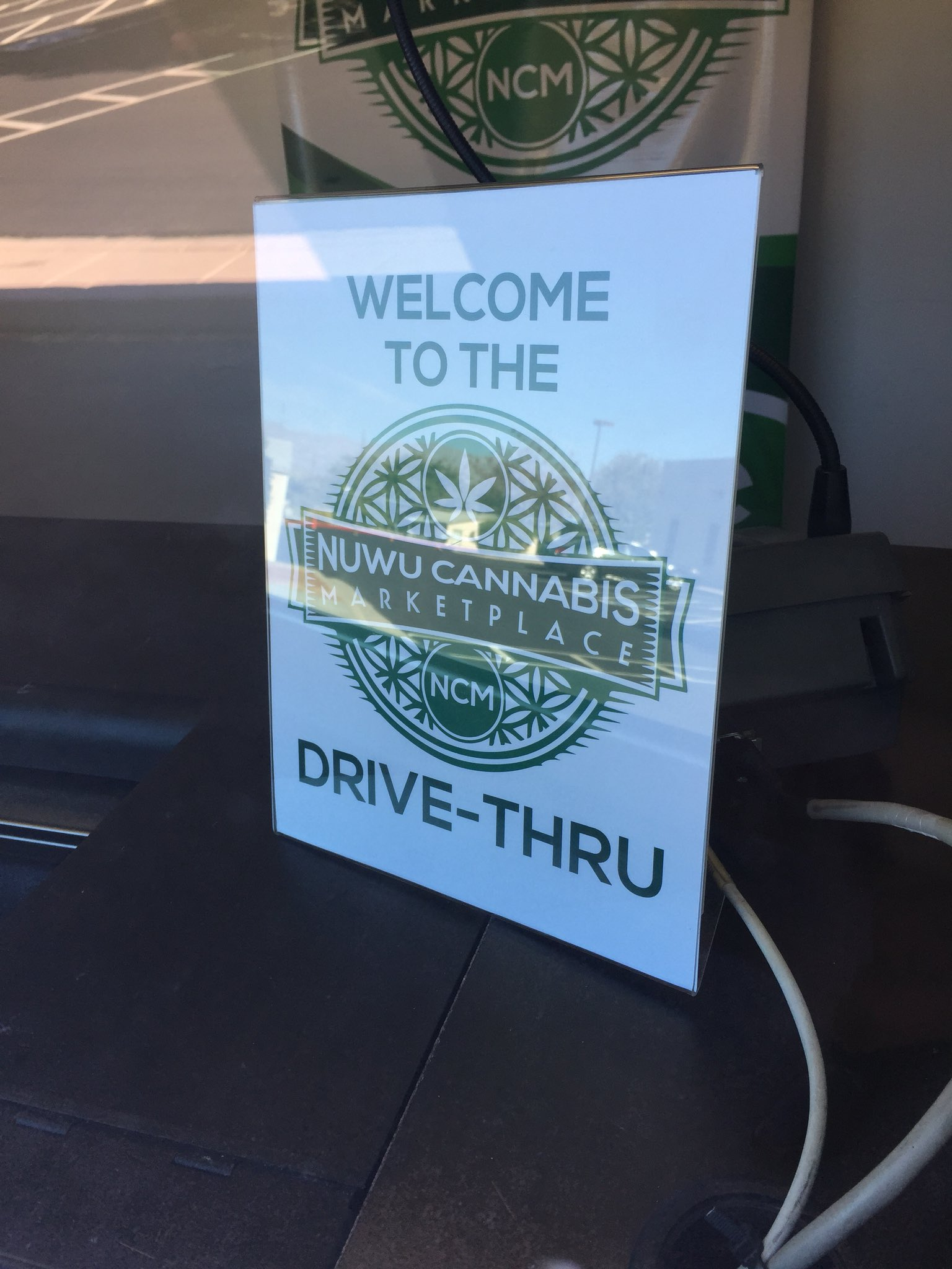 Nevada's first recreational/medical marijuana dispensary drive-thru, located at NuWu Cannabis Marketplace, has now opened. (Jeff Gillan | KSNV)
