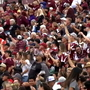Thousands of fans prepare to cheer on the Aggies in Arizona Bowl