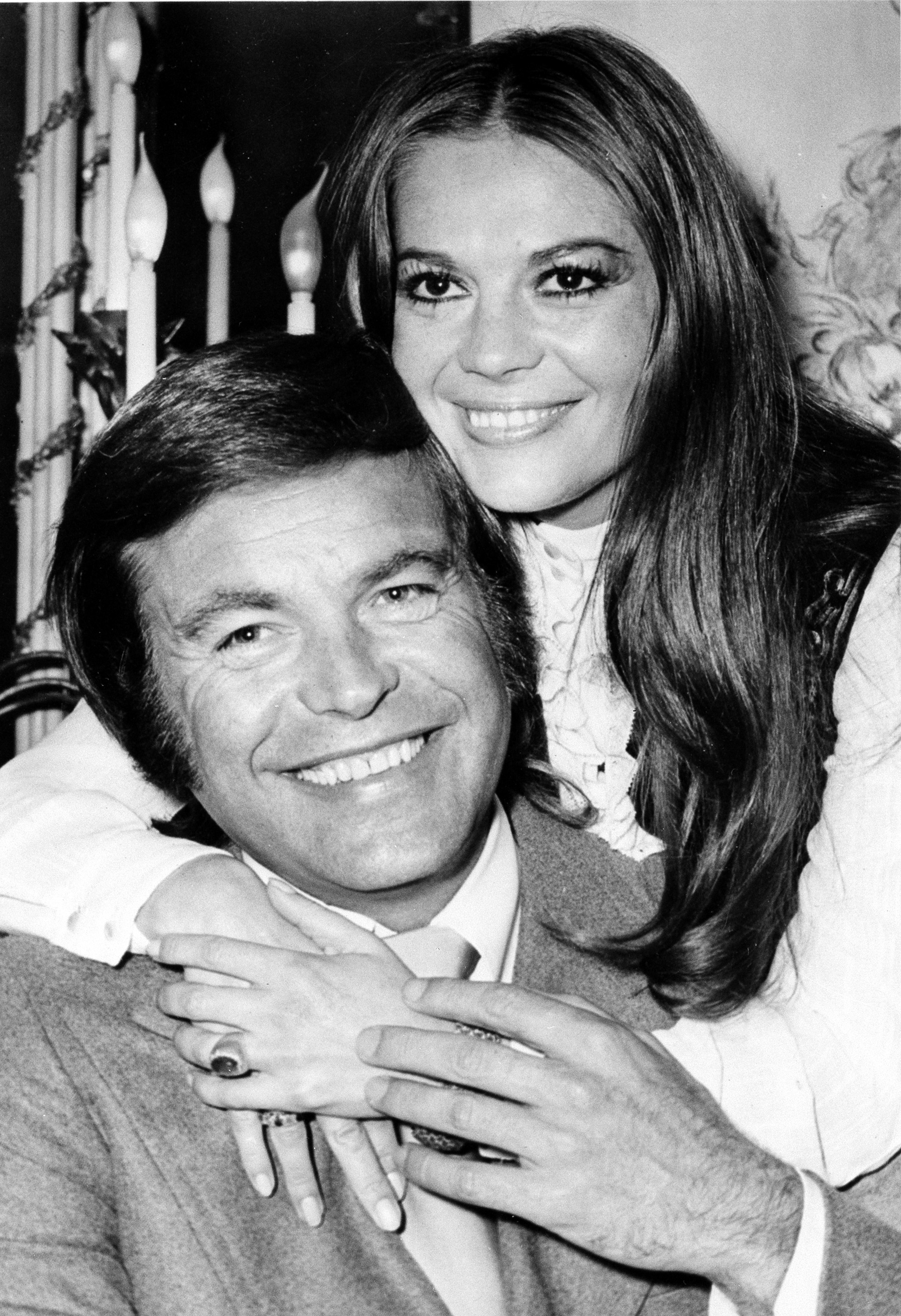 FILE - In this April 23, 1972 file photo, actor Robert Wagner and his former wife, actress Natalie Wood, pose at the Dorchester Hotel in London, England. {&amp;nbsp;}(AP File Photo)<p></p>