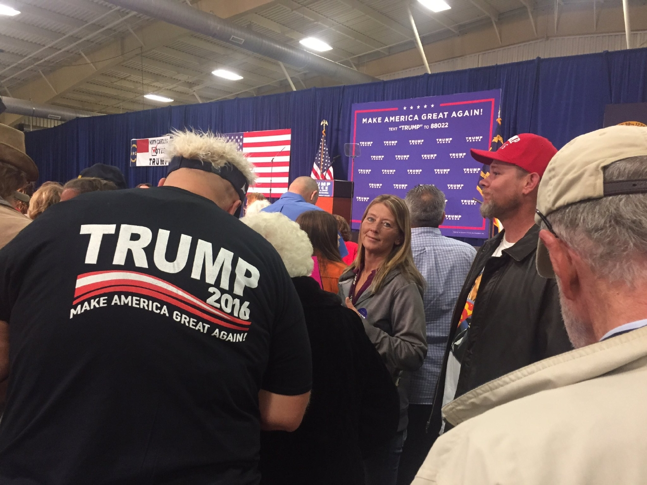 Trump supporters at the rally (Photo credit: WLOS staff)
