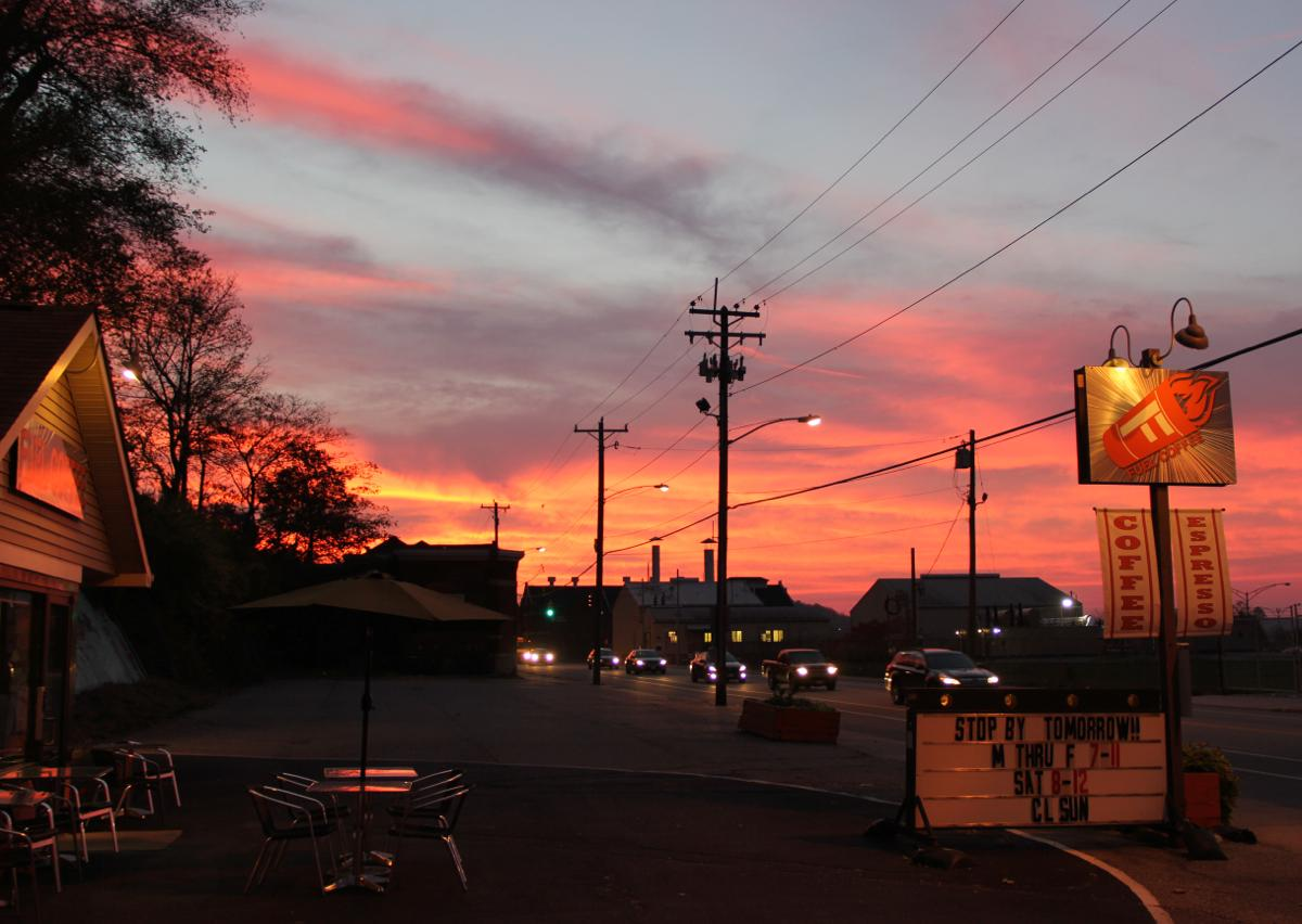 Get your morning revved up at Fuel Coffee (on Riverside Dr. between Columbia Tusculum and Downtown) / (Image: Clay Griffith / Cincinnati Refined)