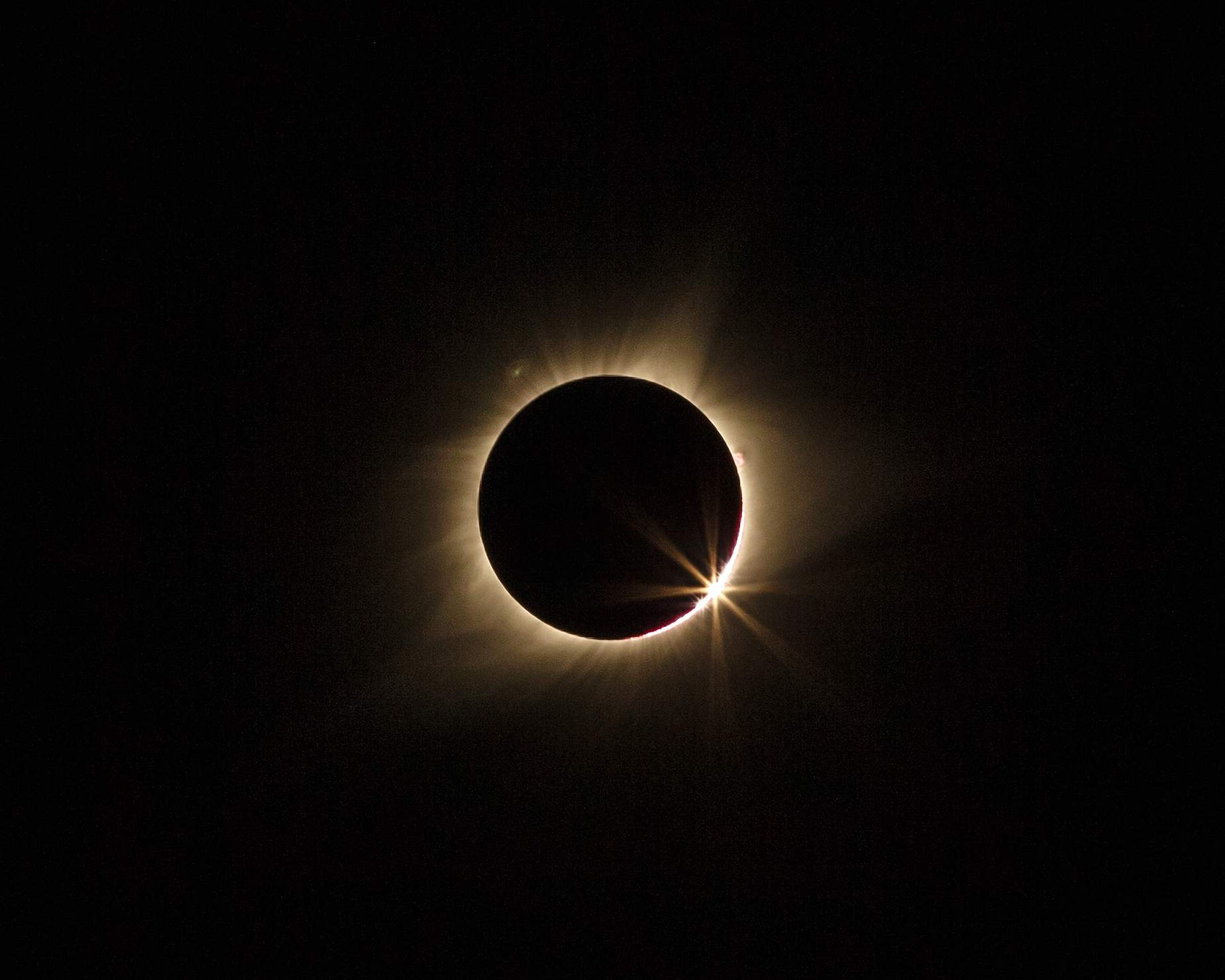 A view of the 'diamond' ring' just before the total eclipse from Independence. [John Howe/Special to The Examiner]