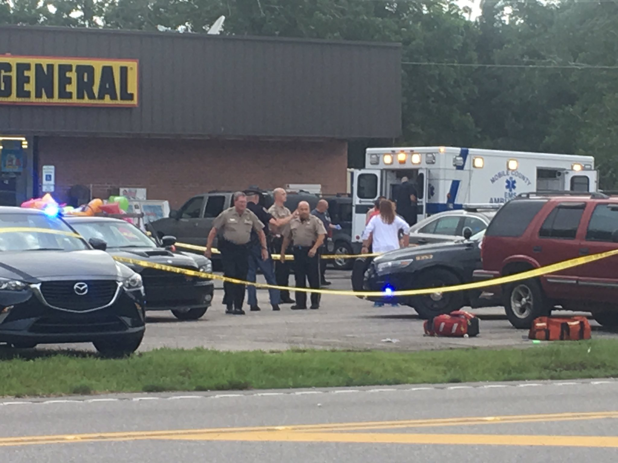 (WPMI) Witnesses tell Local 15 three men were trying to rob a man and a woman and shot them in the back.