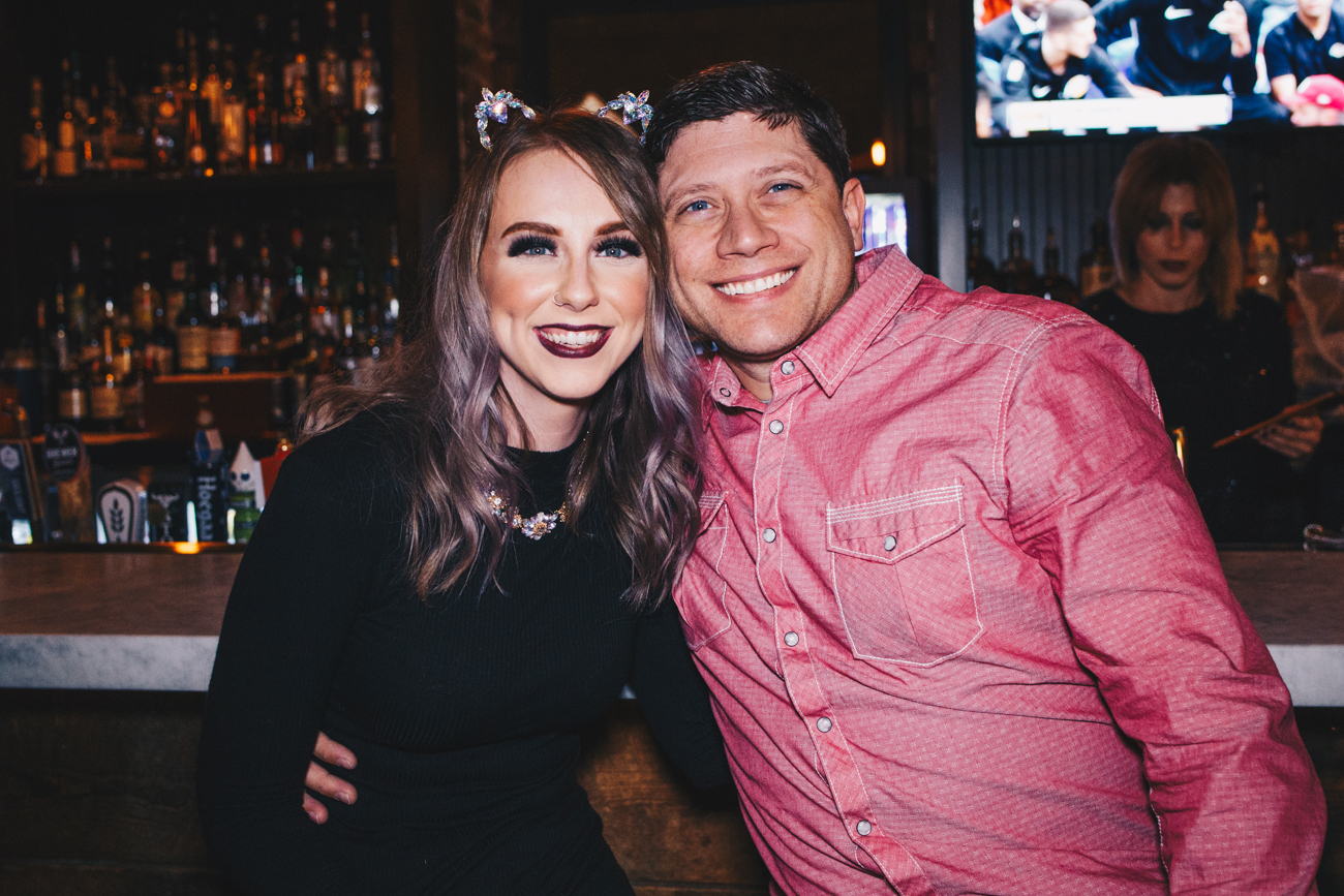Cheri Brown and Javier Parrilla at Igby's on the biggest bar night of the year, Nov. 21, 2018 / Image: Catherine Viox // Published: 11.30.18